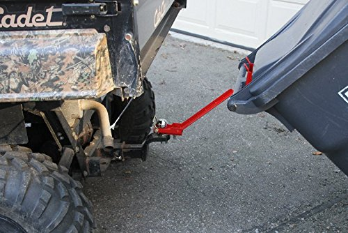 with Our Patented Ball mounting System installs and removes in Seconds. ATV or Lawn Tractor Single can Garbage Hauling Hitch