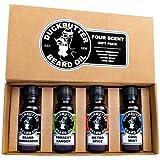 DUCKBUTTER Duck Butter Beard Oil - Natural & Organic 4-Pack Boxed Gift Set - BEST DEAL!