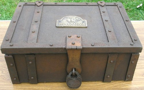 Collectible Badges Winchester Old West Metal Stagecoach Strong Box Trunk