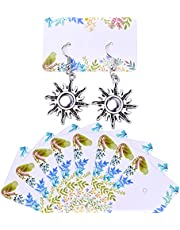 100pcs Earring Display Card Holder Jewelry Display Cards Hanging Earring Cards Custom Earring Cards Paper Tags for Ear Studs, 30mm×50mm