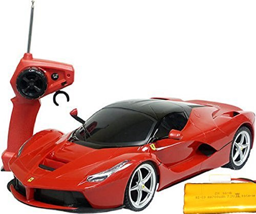 - 1/12 Scale Ferrari LaFerrari SuperCar Radio Remote Control Car R/C Rechargerable