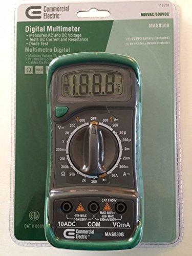 commercial electric digital multimeter amazon com rh amazon com Commercial Electric Mas830b Battery Commercial Electric Mas830b Battery