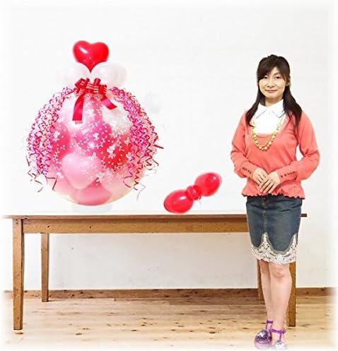(バルーン電報・バルーンギフト)スパークバルーン 大 (ピンクバージョン) リボン飾り付き