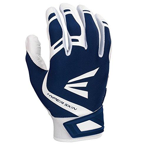 Easton Zf7 VRS Hyperskin Fastpitch Batting Gloves, White/Navy, Medium