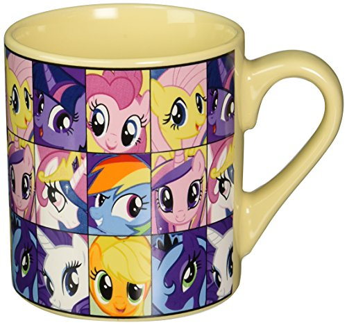 Pony Mug (Silver Buffalo MLP6132 My Little Pony Heads Ceramic Mug, 14-Ounces)