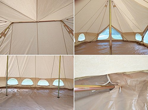 Dream House Large Waterproof Cotton Canvas Emperor Bell Tent for 10~12 Person