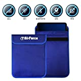 Faraday Bag, SiForce Signal Blocking Bag for Smart Devices, Cell Phone, Passport, iPad Privacy Protection (Large)