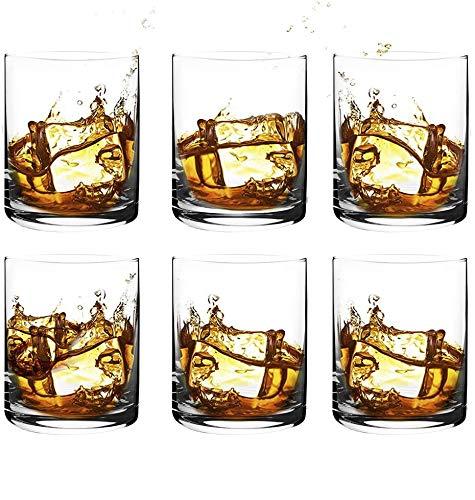 [6-Pack,11.8 Oz]DESIGN•MASTER-Premium Short Whiskey Glasses, Rock Style Old Fashioned Glasses for Scotch, Bourbon…
