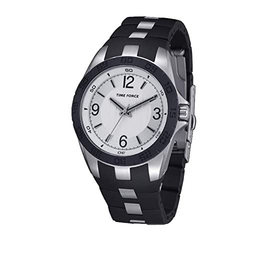 Time Force Reloj Analógico para Hombre de Cuarzo con Correa en Caucho TF4036L02: Amazon.es: Relojes