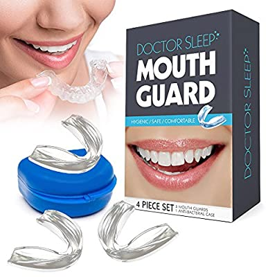 Dental Guard - Eliminate TMJ, Bruxism, Teeth Grinding & Clenching! Includes Three Custom Fit Professional Mouth Guards