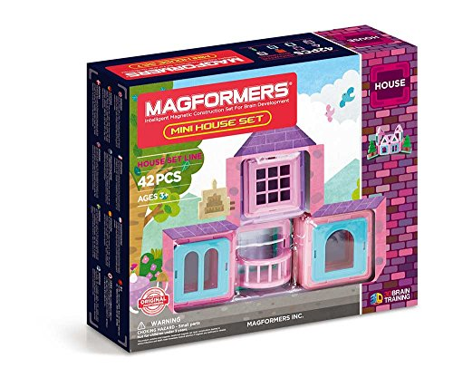 MAGFORMERS Mini House (42 Piece) Magnetic Building Set JungleDealsBlog.com