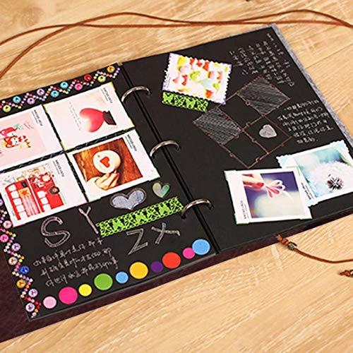 Felt Cover Photo Album 30 Black Sheets Scrapbook Album DIY Handmade Family Memory Record Photoalbum Home Decor Party Favors