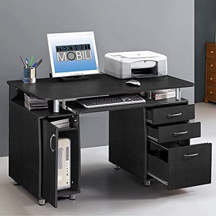 pretty nice 178ae 68afc Amazon.com: Super Computer Desk with Maximum Storage, Deep ...