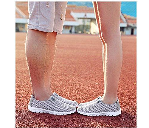 da Traspirante in Casual Grigio Hibasing Mesh Chiaro Scarpe Scarpe per comode Donna Corsa Uomo Leggera URxfSzqw