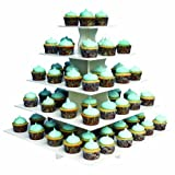 The Smart Baker 5 Tier Square Cupcake Stand PRO- Holds 100+ Cupcakes''As Seen on Shark Tank'' Cupcake Tower for Professional Use