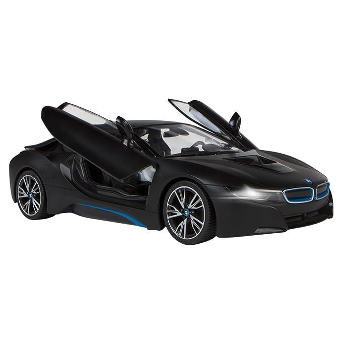 Rastar - BMW i8, coche teledirigido con puertas que se abren, escala 1:14, color negro (ColorBaby 75892): Amazon.es: Juguetes y juegos