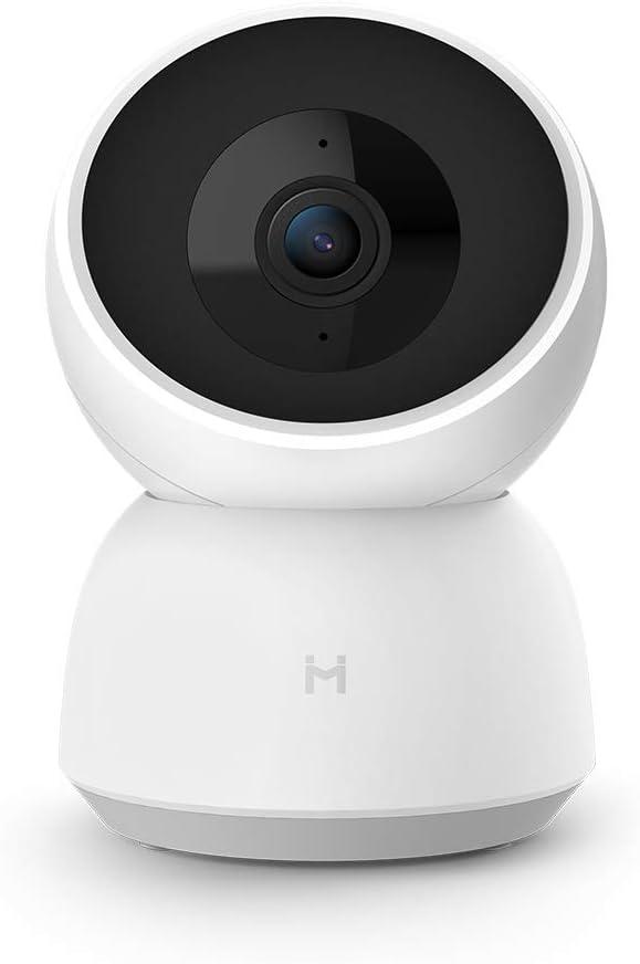 Mihome IMILAB Cámara de Seguridad, 360 Grados, HD, Respuesta de Emergencia, 24 Horas al día, autocruzamiento, Ruta de Movimiento, visión Nocturna, aplicación iOS/Android Disponible (1296P)