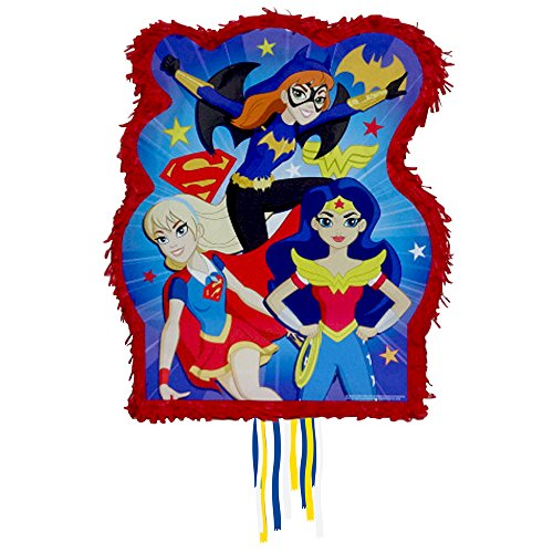 DC Super Hero Girls Pinata 21x18x3 [Contains 1 Manufacturer Retail Unit(s) Per Amazon Combined Package Sales Unit] - SKU# 34220 -