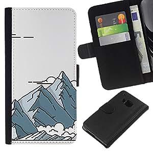 Retro Pósteres Arte Dibujo- la tarjeta de Crédito Slots PU Funda de cuero Monedero caso cubierta de piel Para HTC One M7