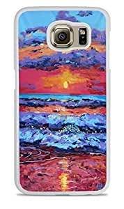 Sunset over Ocean White Silicone Case for Samsung Galaxy S6 by ruishername