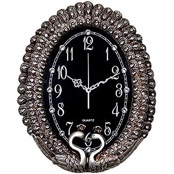 Amazon.com: ZJART Wall Clock W20H25 Inch Peacock Feather