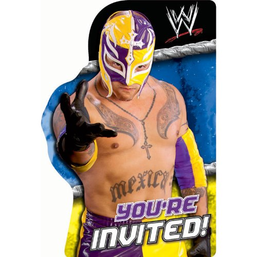 WWE Party Supplies Wrestling Invites Invitations