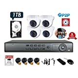 Hikvision OEM 1080P 8CH TVI DVR KIT PACKAGE with 1080P dome camera (8CH+4CAM (1TB HDD))