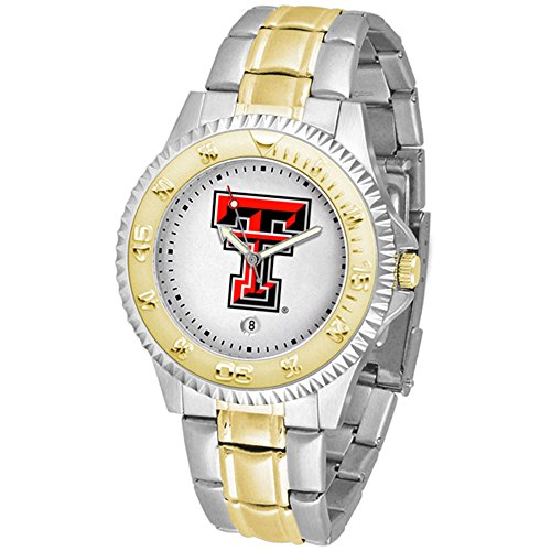 (Linkswalker Mens Texas Tech Red Raiders Competitor Two Tone Watch)