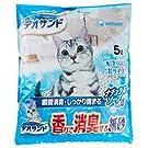【ケース販売】デオサンド 香りで消臭する紙砂 ナチュラルソープの香り 5L×6袋