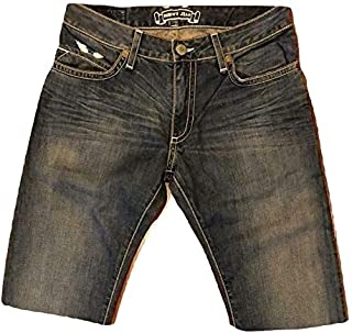 product image for Robin's Jean Mens US Army Patch Classic Straight Fit Denim Shorts Size 40