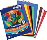 "Tru-Ray Construction Paper, 10 Classic Colors, 9"" x"