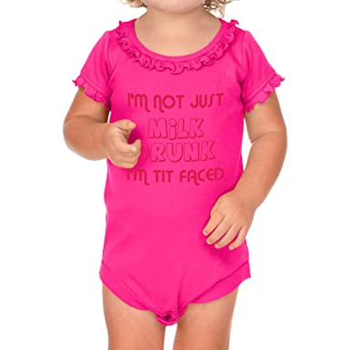 Amazon.com  I m Not Just Milk Drunk I m Tit Faced Girl Cotton Ruffle  Bodysuit  Clothing 34a312012