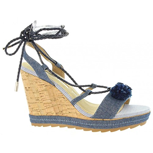 MARIA MARE Zapatos de Cuña de Mujer 66792 C30863 Denim Azul