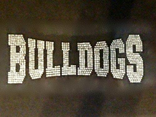 Bulldogs Mascot Rhinestone Transfer Iron on