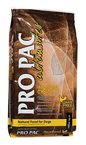 Midwestern Pet Foods PRO PAC Ultimates Heartland Choice Natural Grain and Gluten Free Formula with Chicken Meal Dry Dog Food, 28-Pound Bag by Midwestern