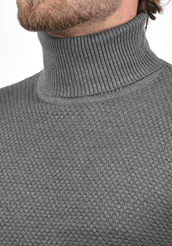 Karlos Homme 8254 Med Pull Grey Roulé Col Tricot Pull over solid M À B8wdZBq