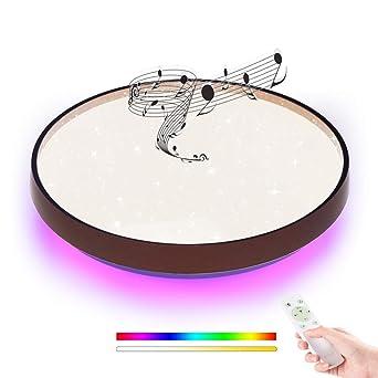 LED Deckenleuchte 36W Sternenhimmel Deckenlampen Bluetooth Lautsprecher Musik