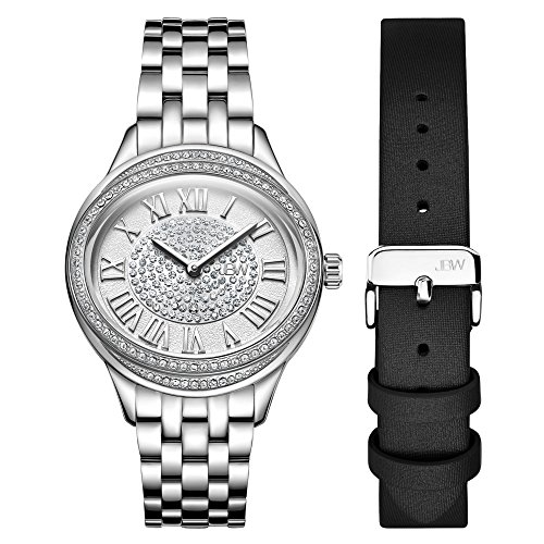 - JBW Women's 10-Year Anniversary Plaza Diamond Wrist Watch with Two Interchangeable Bracelets
