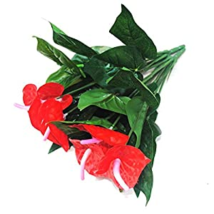 1Bunch Artificial Flower Fake Anthurium Bouquet Wedding Arrangement Christmas Home Decoration 26
