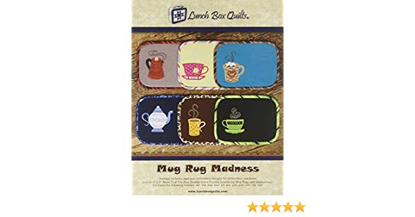 Beige Small Lunch Box Quilts Mug Rug Madness pattern