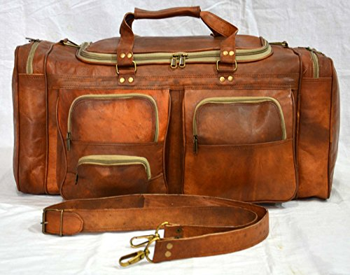 Echt Ziegenleder Handarbeit Travel Gepäck Vintage Holiday Trip Indien Duffel Bag