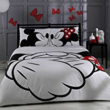 1 X Disney, Mickey & Minnie, Adore, Bedding Set, Double (Queen) by Zorlu