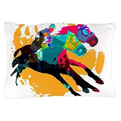 "CafePress - Horse Racing - Standard Size Pillow Case, 20""x30"" Pillow Cover, Unique Pillow Slip"