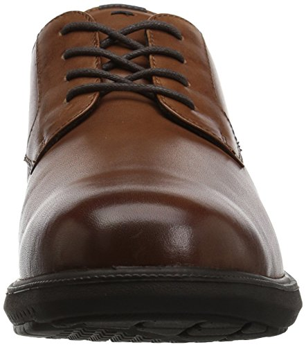 Nunn Bush Mens Messina Plain Toe Oxford Tan