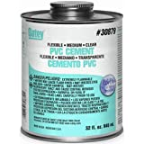 Oatey 30875 Lo-VOC PVC Flexible Clear Cement, 4-Ounce