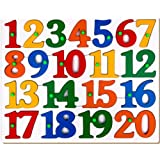 Little Genius Counting Tray Puzzle - 1 to 20, Multi Color