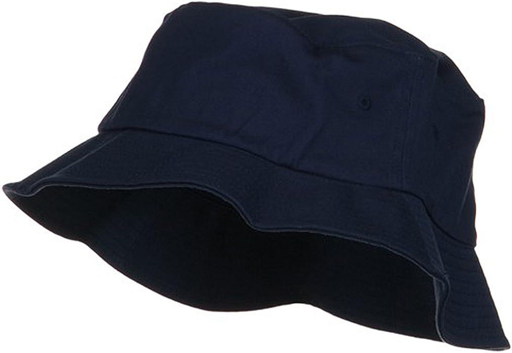One Size Flexfit Cotton Twill Bucket Hat - Navy at Amazon Men s Clothing  store  b2f99db3872