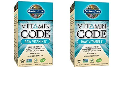 Garden of Life Vitamin E – Vitamin Code Raw E Vitamin 250 IU Whole Food Supplement with A, D, K and Selenium, Vegetarian