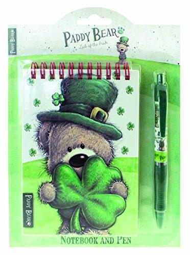 Shamrock Gift Co. Paddy Bear Notebook and Pen Set