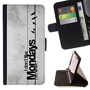 - cool funny hate Monday wire bird - - Prima caja de la PU billetera de cuero con ranuras para tarjetas, efectivo desmontable correa para l Funny HouseFOR LG OPTIMUS L90